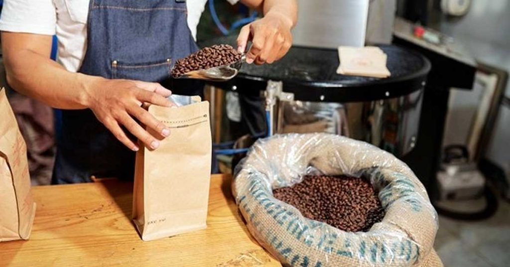 Bolsas para café con fondo plano