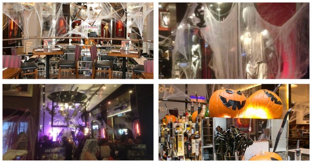 Halloween en restaurantes Hard Rock Café