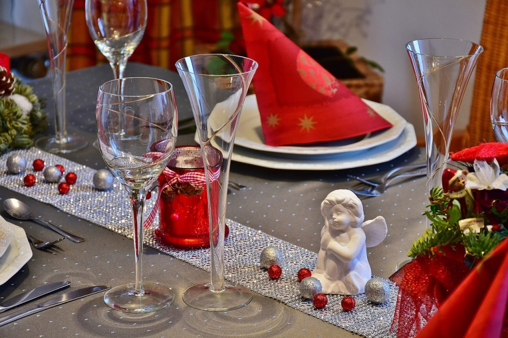 Cena de navidad en familia