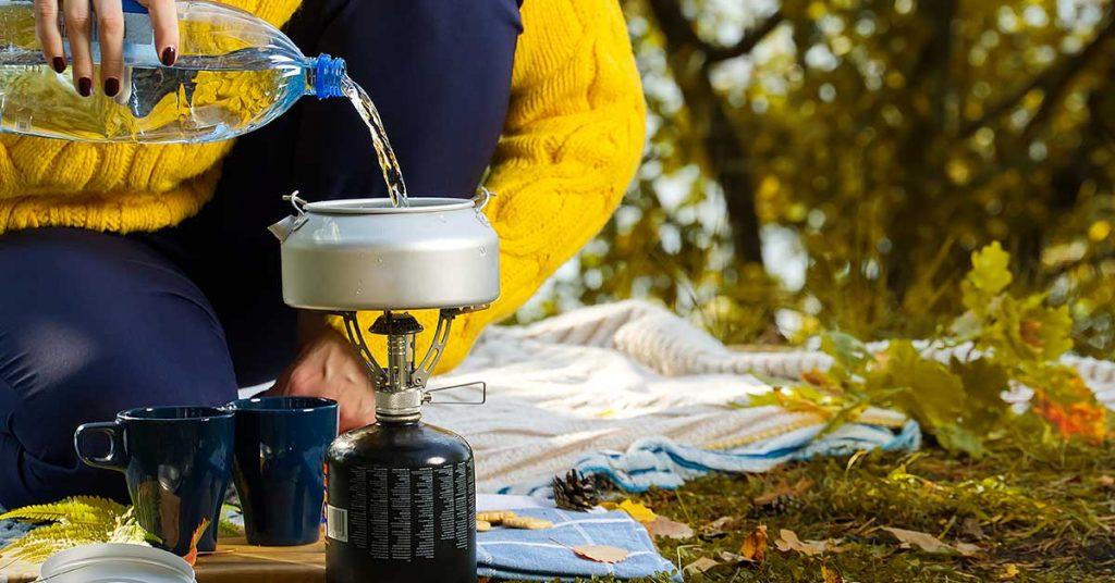 Herramientas para cocinar de camping