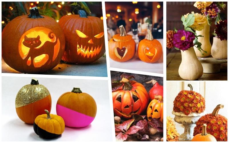 Calabaza - Centro de mesa para Halloween tradicional