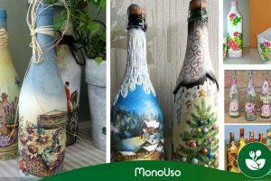 Comment décorer les bouteilles avec des serviettes. Recycler et embellir
