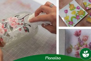 Comment décorer le verre avec des serviettes en papier