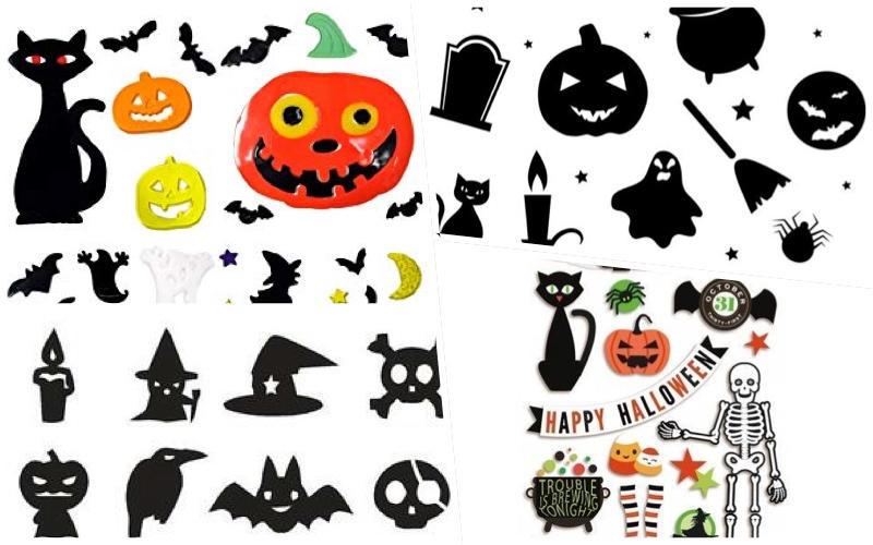 Manteles para Halloween con pegatinas