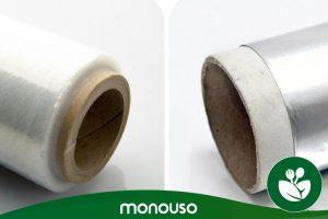 Utilisations dans la cuisine de papier d'aluminium ou de film alimentaire